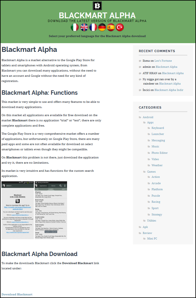 Android app: Blackmart Alpha [Certified Malware]